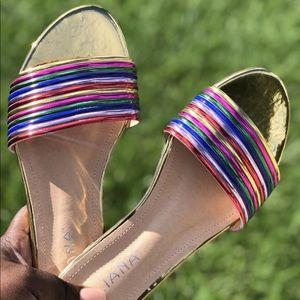 Gold rainbow slides